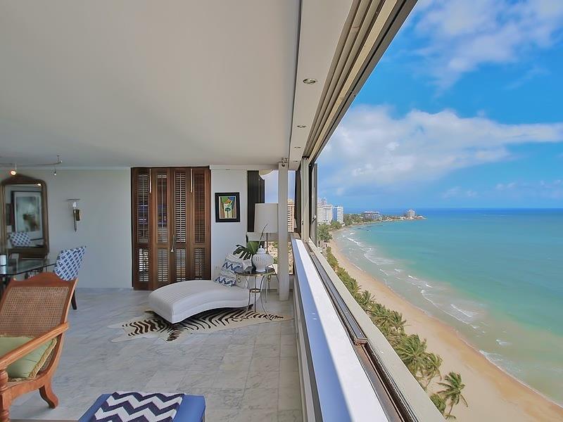 Stunning Beachfront Penthouse Isla Verde Puerto Rico