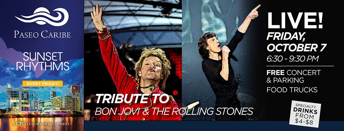bon jovi and the rolling stones tribute paseo caribe Puerto Rico Columbus Day Weekend