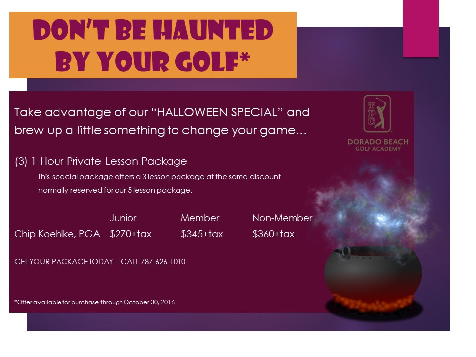 1-Hour Private Golf Lessons Promotion Halloween 2016 Events Puerto Rico